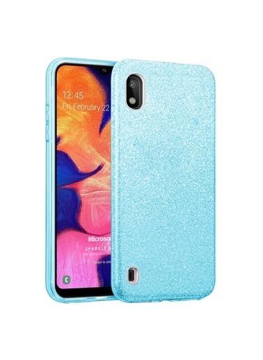 Microsonic Microsonic Samsung Galaxy A10 Kılıf Sparkle Shiny Gold Mavi